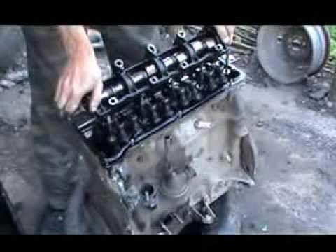Выемка коленвала с двигателя
