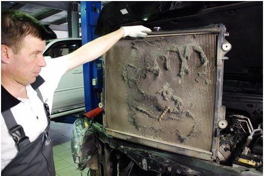 Критическое загрязнение радиатора