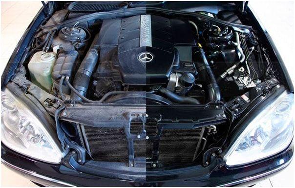 Мойка двигателя: до и после