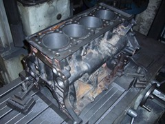 Гильзовка блока цилиндров Audi